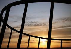 (tosatori) Tags: light sunset shadow sky cloud sun colors lines silhouette skyline contrast sunrise colours farm circles horizon feed hay shape circular markwilliams tosatori