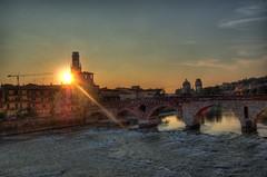 Ponte Piera Verona Italy (Valpolicello) Tags: sunset home soleil town italia tramonto ponte verona natale pietra hdr ville citt piera natia verone couche sgiorgio hometoxn