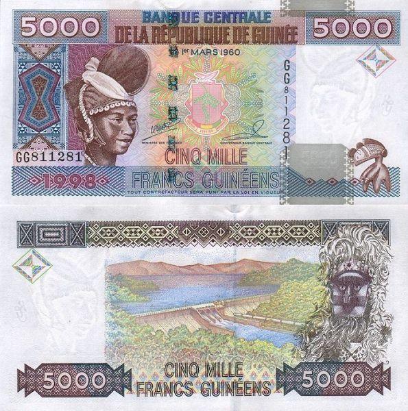 5000 frankov Guinea 1998