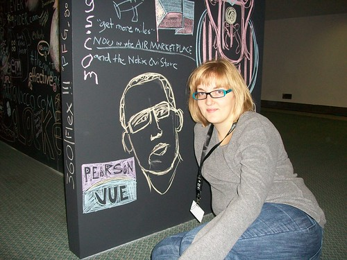 Me and the Pearson VUE logo