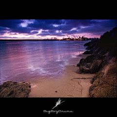 Colorful Ocean.... (BigBoyDrums (www.hectorcruzphoto.com)) Tags: ocean city blue trees seascape beach colors clouds lights nikon rocks colorful long exposure purple palm tokina filter le 1224mm d300 cokin smgallery bigboydrums