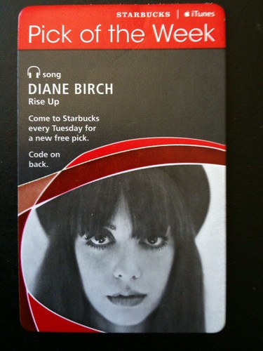 Starbucks iTunes Pick of the Week - Diane Birch - Rise Up #fb