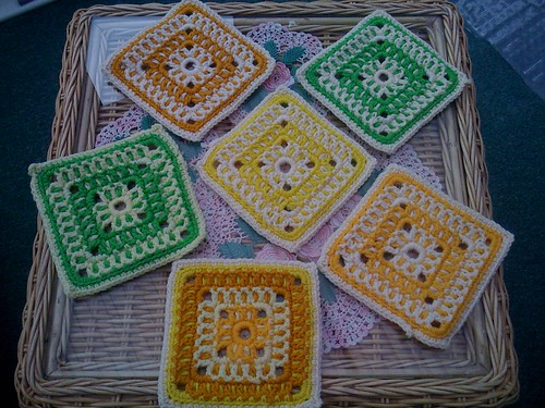Dull day here in the UK. Rain but these Squares brightened my afternoon up! Thanks Wanda!