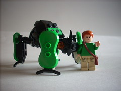 Me And My New Pet (Masked Builder) Tags: lego beetle mech