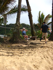 Granny & My Brother (WireLizard) Tags: trip family vacation beach hawaii oahu backofmyhead
