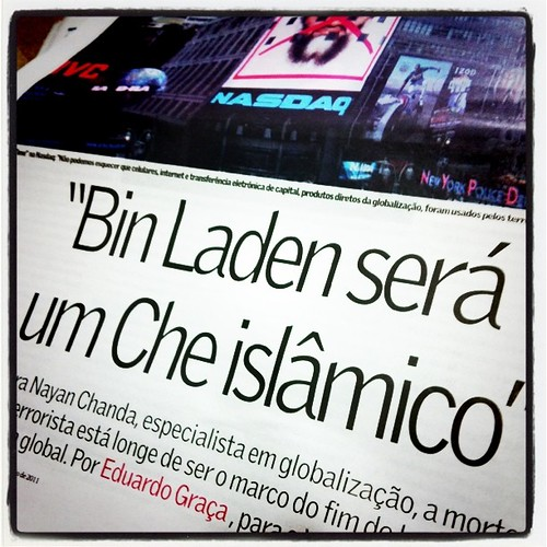 """""""Bin Laden será um Che islâmico"""" (Natan Chanda, autor de Sem Fronteira)"""