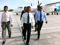 HEP arrives in GAN (Presidency Maldives) Tags: