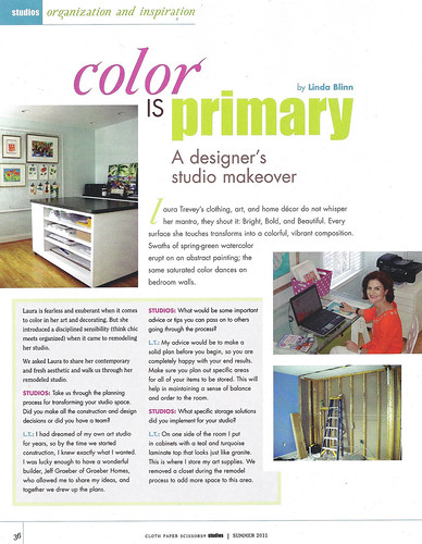 Laura Trevey's Art Studio in Studios magazine