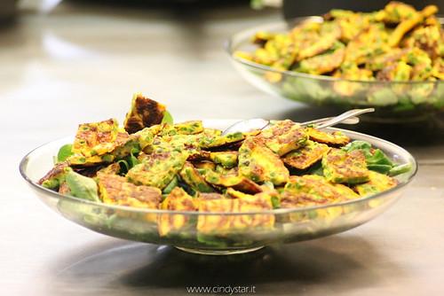 insalata con quadrotti di frittata