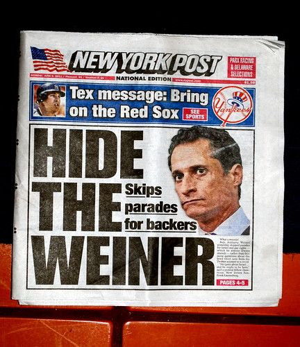 Hide the Weiner, New York Post