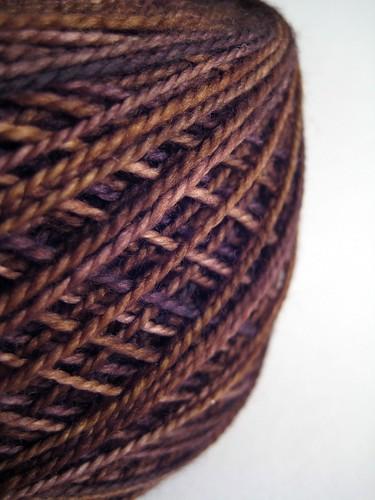 Black Maderia Fig Madelinetosh glazed sock