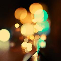 Christmas trip 8. Bokeh volcano (Alex Dram) Tags: christmas street city trip blue autumn light sunset urban abstract black yellow night 50mm evening europe dof czech prague bokeh outdoor dusk f14 czechrepublic explored d80 alexdram dwcffabstract