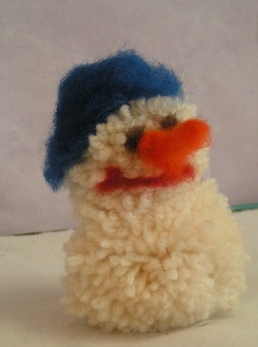 pompom snowman