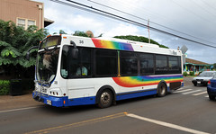 Chance/Optima Opus 30 @ Old Haleiwa (indyinsane) Tags: bus 30 hawaii coach pacific oahu pacificocean transportation transit honolulu opus thebus wrightbus chanceoptima chanceoptimaopus