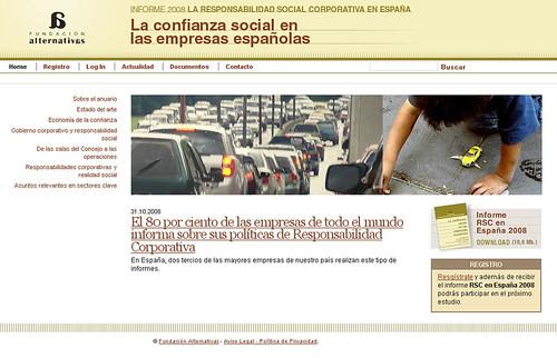 Informe 2008, la Responsabilidad Social Corporativa en España