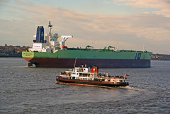 Little & Large (moz278) Tags: liverpool mersey tanker bigships rivermersey bwbauhinia