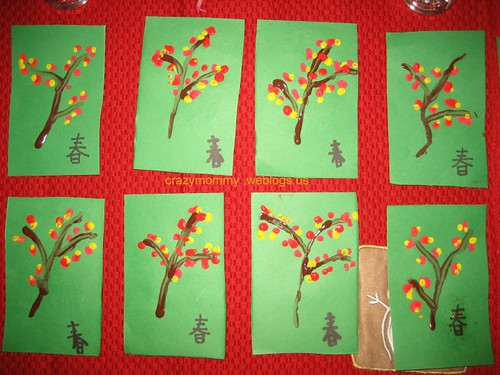 Homemade Chinese New Year craft card