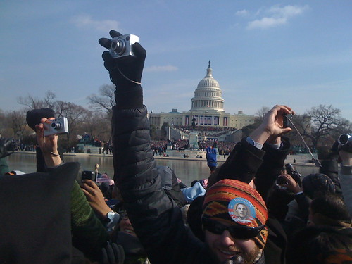 People taking pictures on President Obamas inauguration day, January 20, 2009, by eppink, Creative C