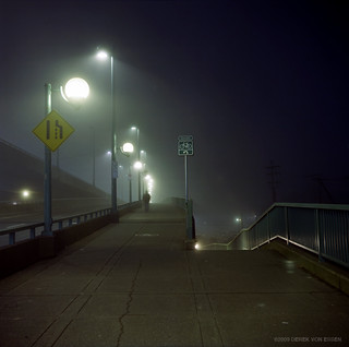 Cambie Bridge Night Fog #11
