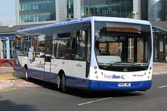 TM Travel YN08JWE (Howard_Pulling) Tags: uk bus buses sheffield freebee plaxton tmtravel sheffieldinterchange plaxtoncentro man18240 freesheffieldbus