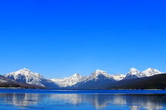 IMG_7703 copy (grafficartistg4) Tags: camera blue winter light sun sunlight mountain lake snow mountains cold reflection slr ice nature water beauty digital photography eos frozen montana freezing h2o freeze glaciernationalpark icy gnp canon30d lakemcdonald nwmontana photophotograph