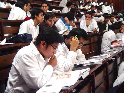 Estudiantes de la Universidad San Marcos