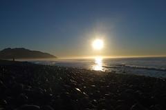 Sun Up ( *..CAH.. * ) Tags: blue sea sun beach sunrise surf kaikoura kartpostal