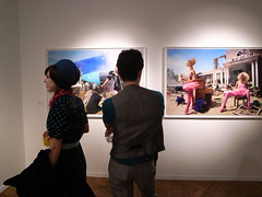 Vernissage rtrospective David Lachapelle (Jrme Sneuw) Tags: paris couple exhibition exposition vernissage beautifulpeople rivegauche davidlachapelle happyfew hteldelamonnaie ricohgri
