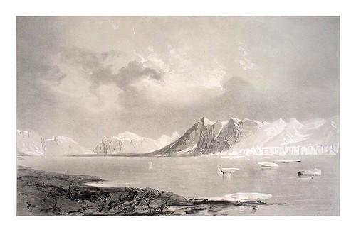 008-parte de un gran glaciar en una montaña (4 de agosto de 1838)-Spitsbergen