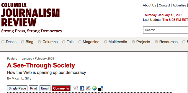 Columbia Journalism Review: A See-Through Society