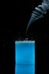Candle Smoke Water Splash (Sergiu Bacioiu) Tags: blue water studio nikon candle smoke splash d300