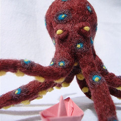 Needle-Felted Octopus 5