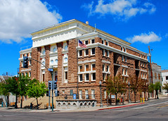 Old Courthouse in Historic Globe, Arizona (Scandblue) Tags: arizona southwest building brick history architecture globe apache nikon nostalgia historical courthouse smalltown americanwest sonorandesert broadstreet miningtown geronimo oldwest frontiertown centerforthearts d80 gilacounty cobrevalley globearizona apachekid
