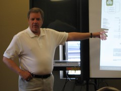 Glenn Cannon making a presentation on 4.17.09 in Berea