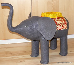 Elephant papier mache (Joanna Jedrzejewska) Tags: original sculpture elephant art texture paper grey newspaper basket recycled handmade decoration restore pulp papel remodel recycle papier eco remake mache tutorial papiermache papermache reuse ecoart oldnewspaper paperpulp cartapesta paperclay reciclando paperbasket fusedplastic recire papierbasket