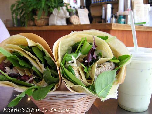 KC's Crepes Cafe- 2 Tuna Salads + Green Milk Tea