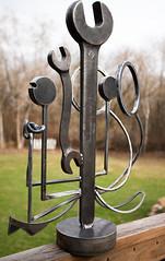 Welded Steel Sculpture - Slightly angled (Jeff Van de Walker) Tags: sculpture art statue iron steel tools wrench welded jeffvandewalker