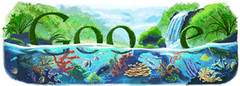 Happy earth Day Google logos