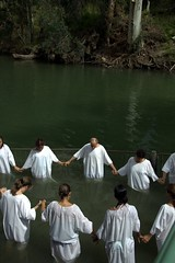 Baptism in the River Jordan (Available for licensing and purchase) (! .  Angela Lobefaro . !) Tags: trip travel girls boy vacation people woman man men boys water girl river landscape religious israel women asia christ quality faith religion praying jesus christian baptism jordan holy cielo nubes christianity messiah nuages holyland prayers battesimo allrightsreserved baptistry giordano israele disciples johnthebaptist newtestament terrasanta bethabara riverjordan ges sangiovannibattista westasia canoneos50d angiereal fiumegiordano angelalobefaro angelamlobefaro   massimilianogreco maxgeco gettyvacation2010
