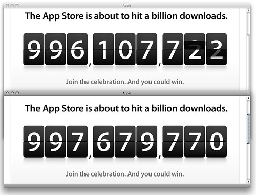 Apple App Store counter