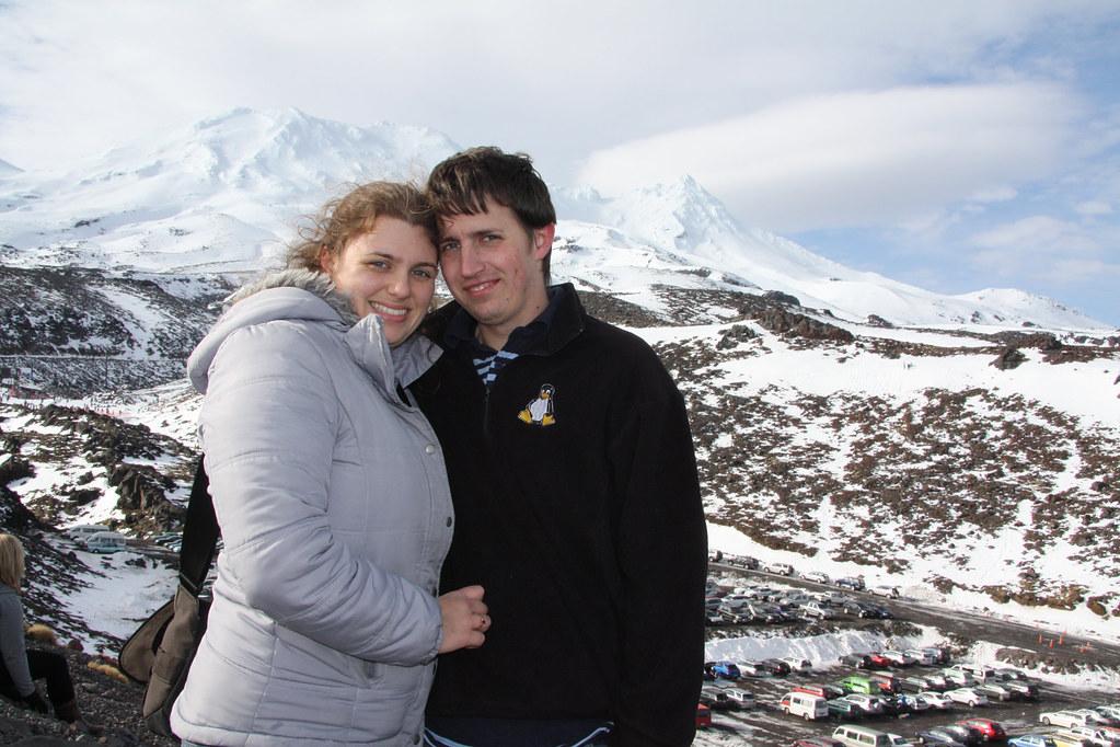 Andie & Rob at Mt Ruapehu