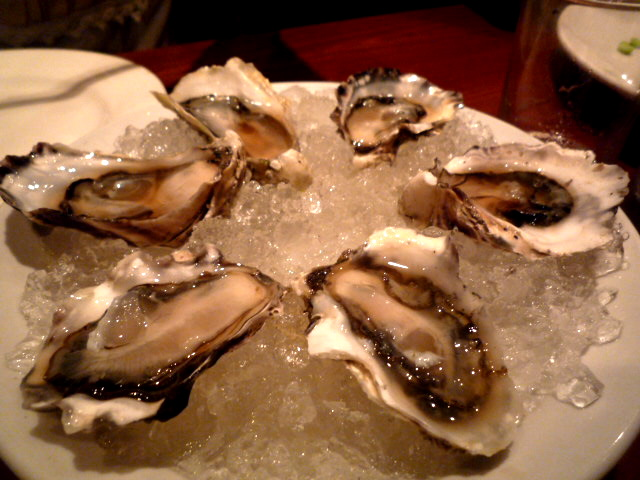 Salt Pond oysters with kimchi consomme