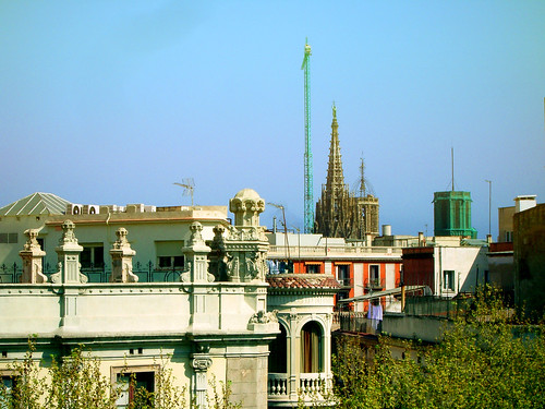 Cathedral of Barcelona. View of the dome