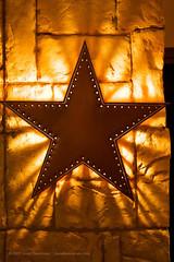 Rock Star (Harley James) Tags: light stone wall stars star back san texas lone antonio