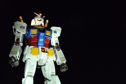 Gundam night shot