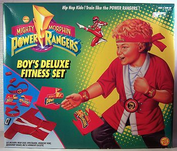 Mighty Morphin Power Rangers Red Ranger Fitness Set