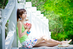 (Funstyle) Tags: portrait people cute girl beauty model nikon asia pretty heart taiwan 85mm taipei     nsp  a16 d90 mikako  funstyle