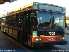7308 (R. Flores) Tags: new toronto bus flyer floor ttc low transit commission industries 19981999 nfi d40lf