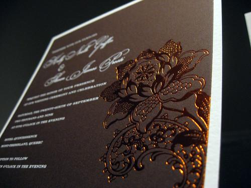 Tuscany Foil Wedding Invitations