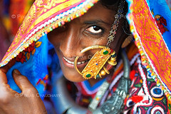 The Golden Nose Ring ( Poras Chaudhary) Tags: portrait india colors nose golden colorful ring gujarat kutch kachchh
